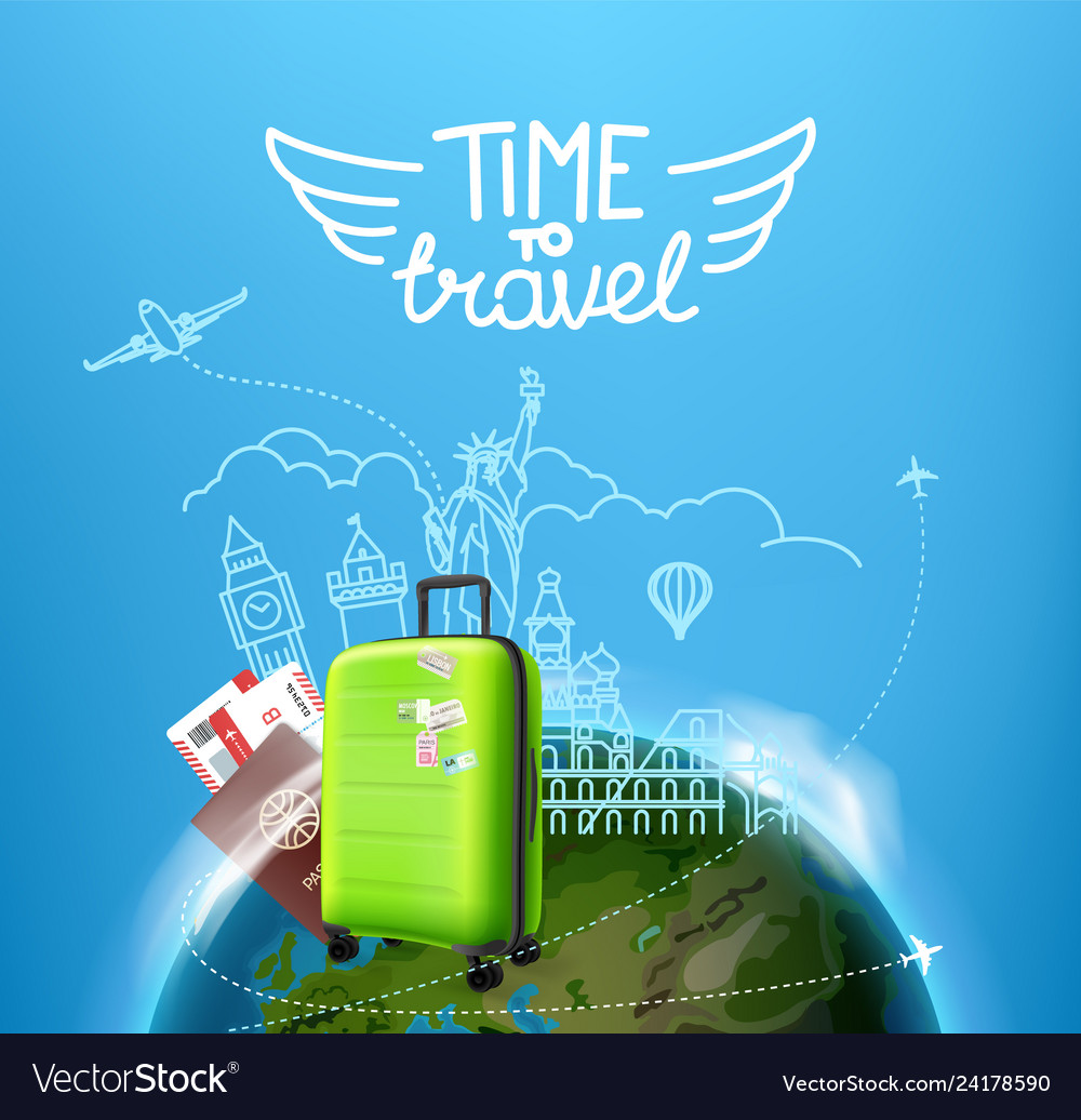 Time to travel concept with the bag