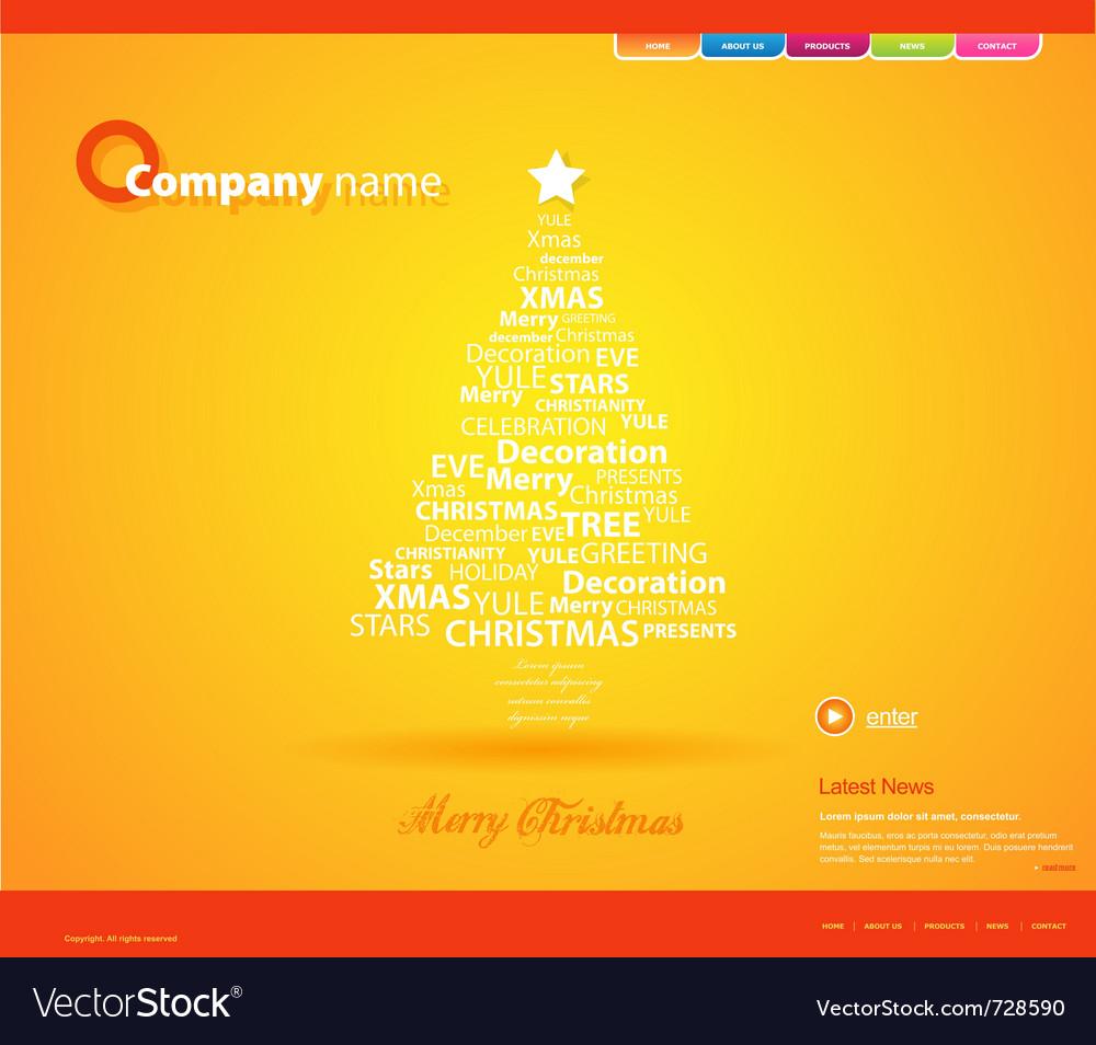 Website christmas template