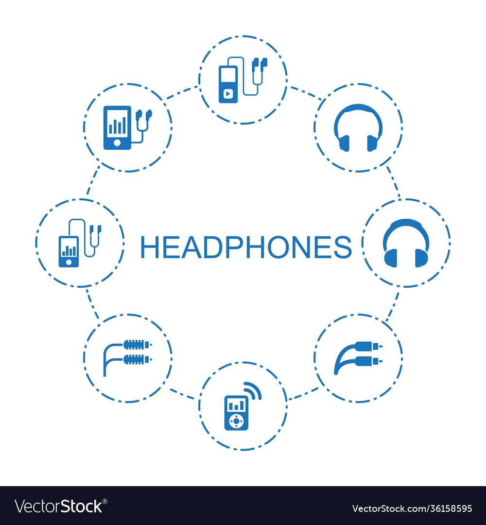 8 headphones icons