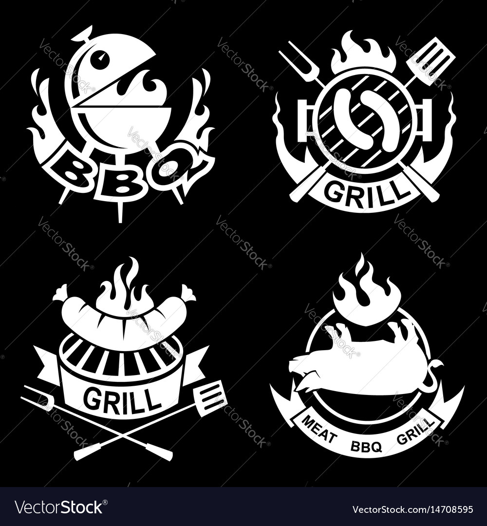 Barbecue banners set