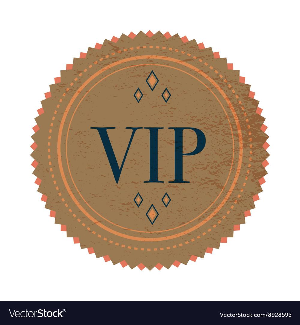 Brown VIP label label vintage style