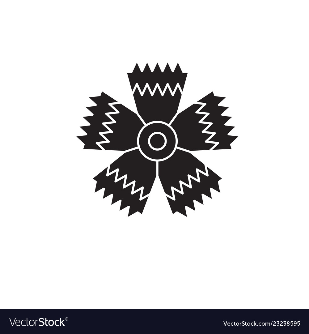 Carnation flower black concept icon