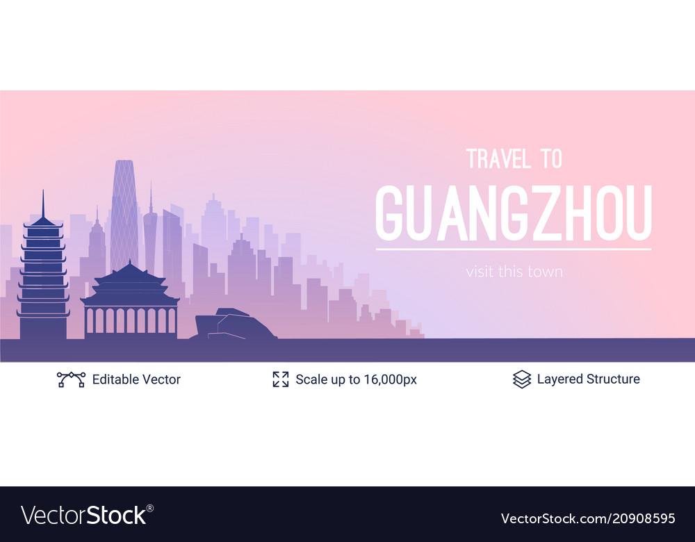 Guangzhou famous city scape