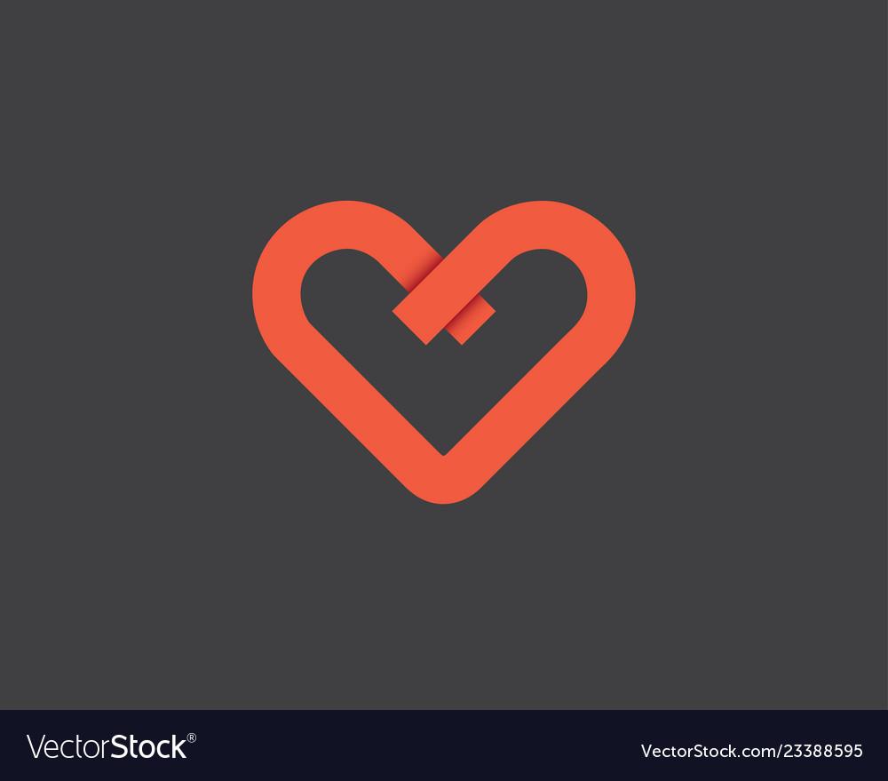 Heart logo design template