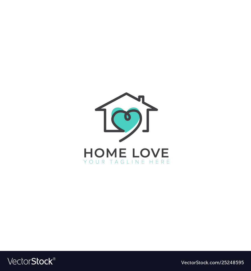 Home with love logo design