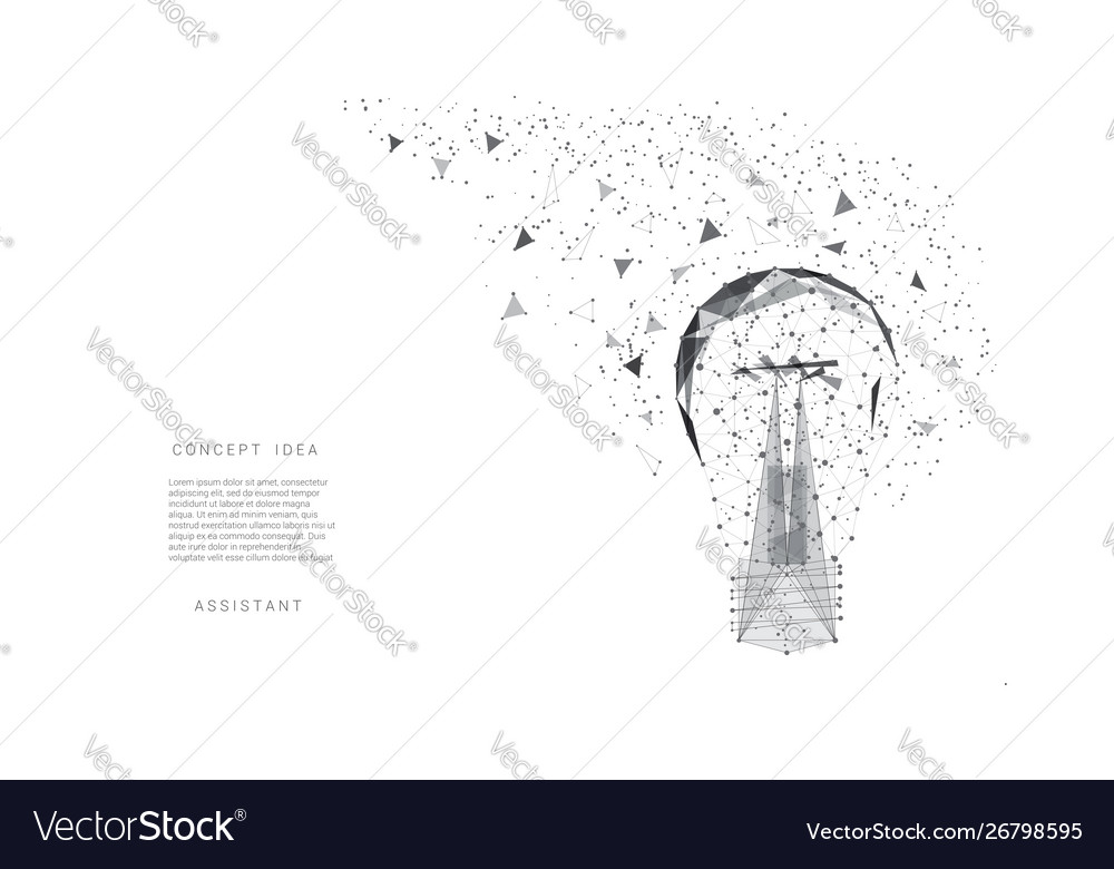 Light bulb triangles and points background