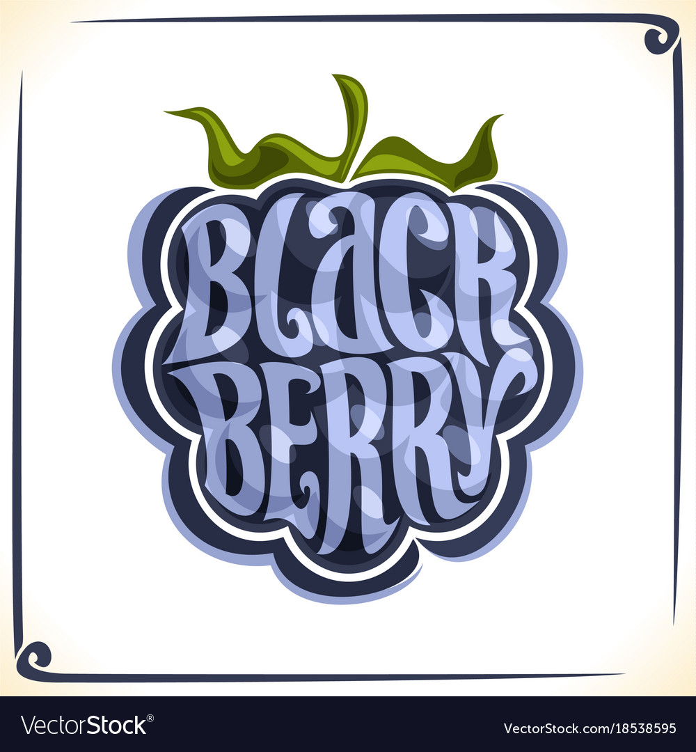 Logo for blackberry vector image