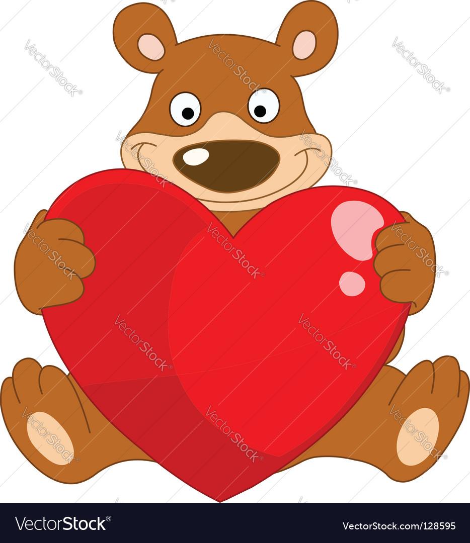 Smiley bear valentine