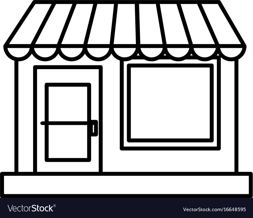 Store building front icon