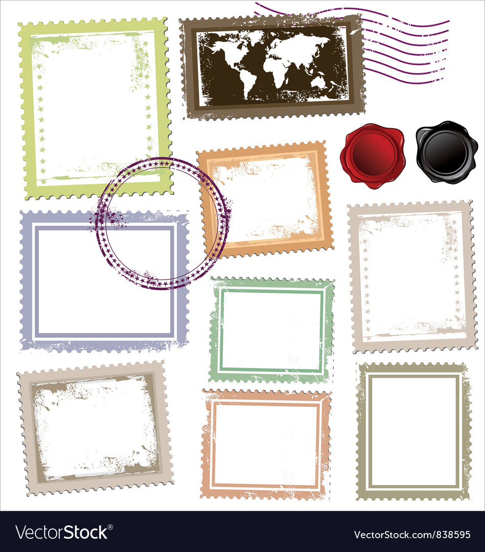 Vintage post stamps template royalty free vector image vintage post stamps template vector image maxwellsz