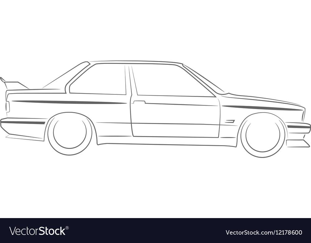 Bmw E30 M3 Royalty Free Vector Image Vectorstock