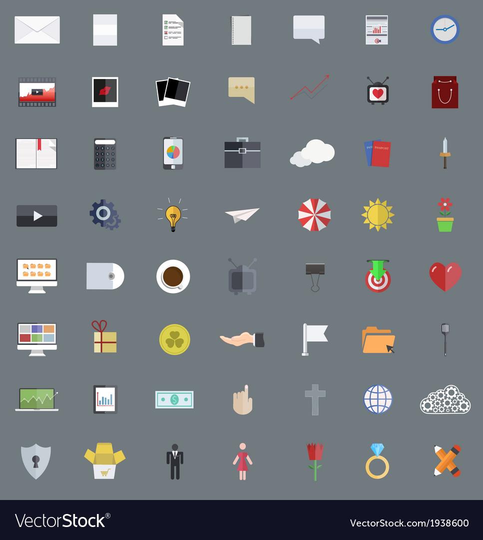 Flat modern icons set Eps 10