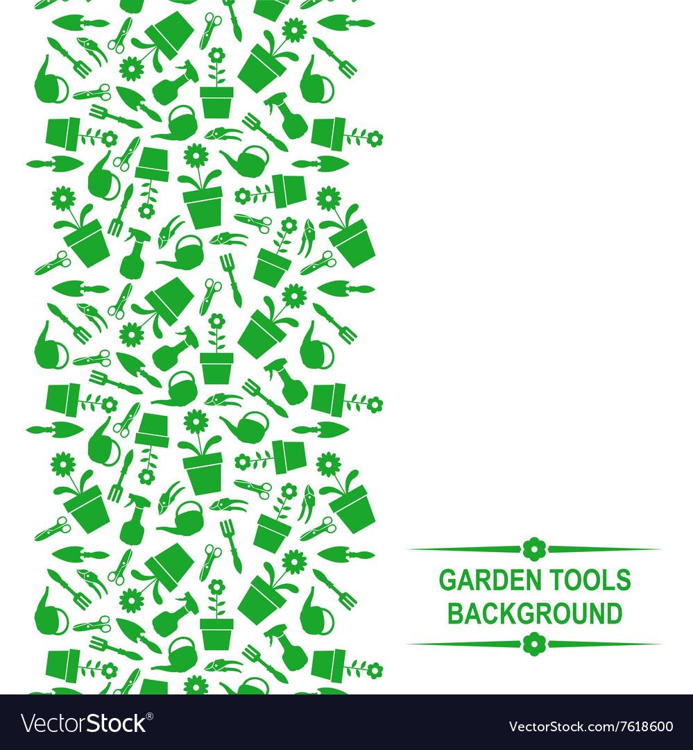 Garden card vertical white vector image