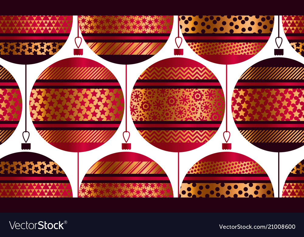 Geometric xmas baubles seamless pattern