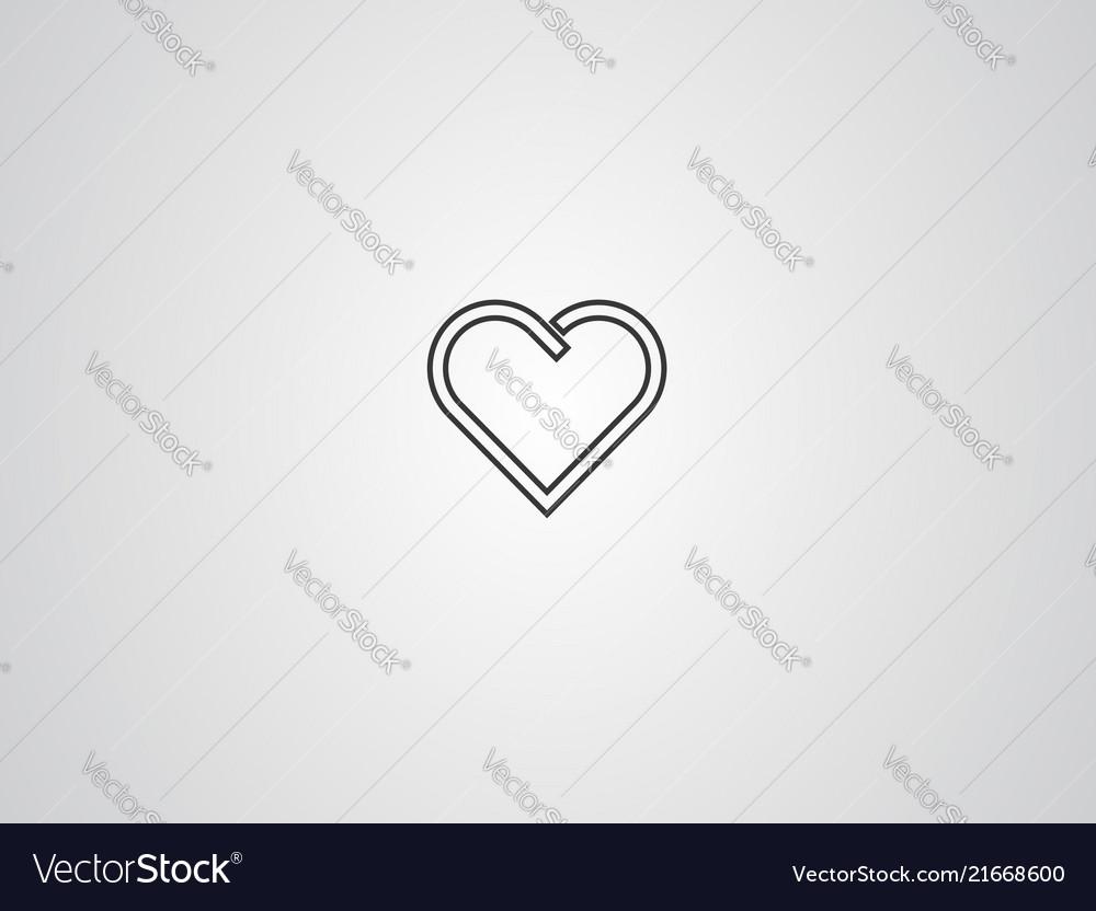 Heart icon sign symbol