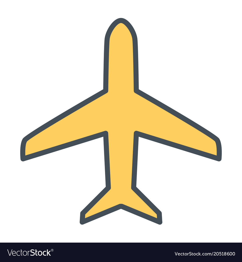 Plane line icon simple minimal 96x96 pictogram