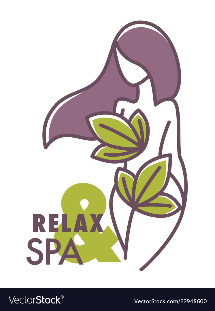 Relax and spa center salon logo graphic design