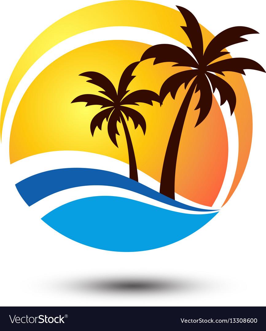 Summer logo vector image
