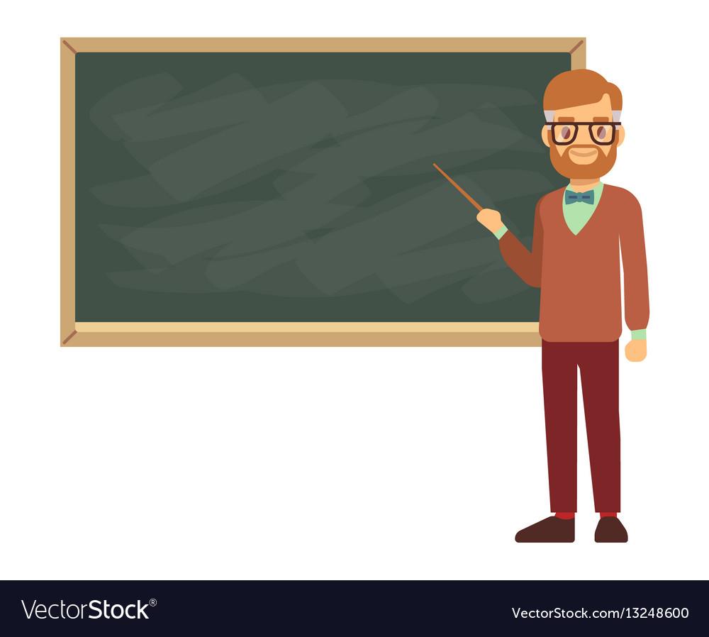 Teacher professor standing in front of blank vector image