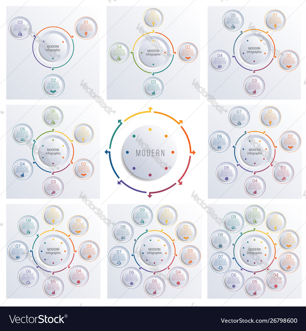 Templates for infographics diagrams vector