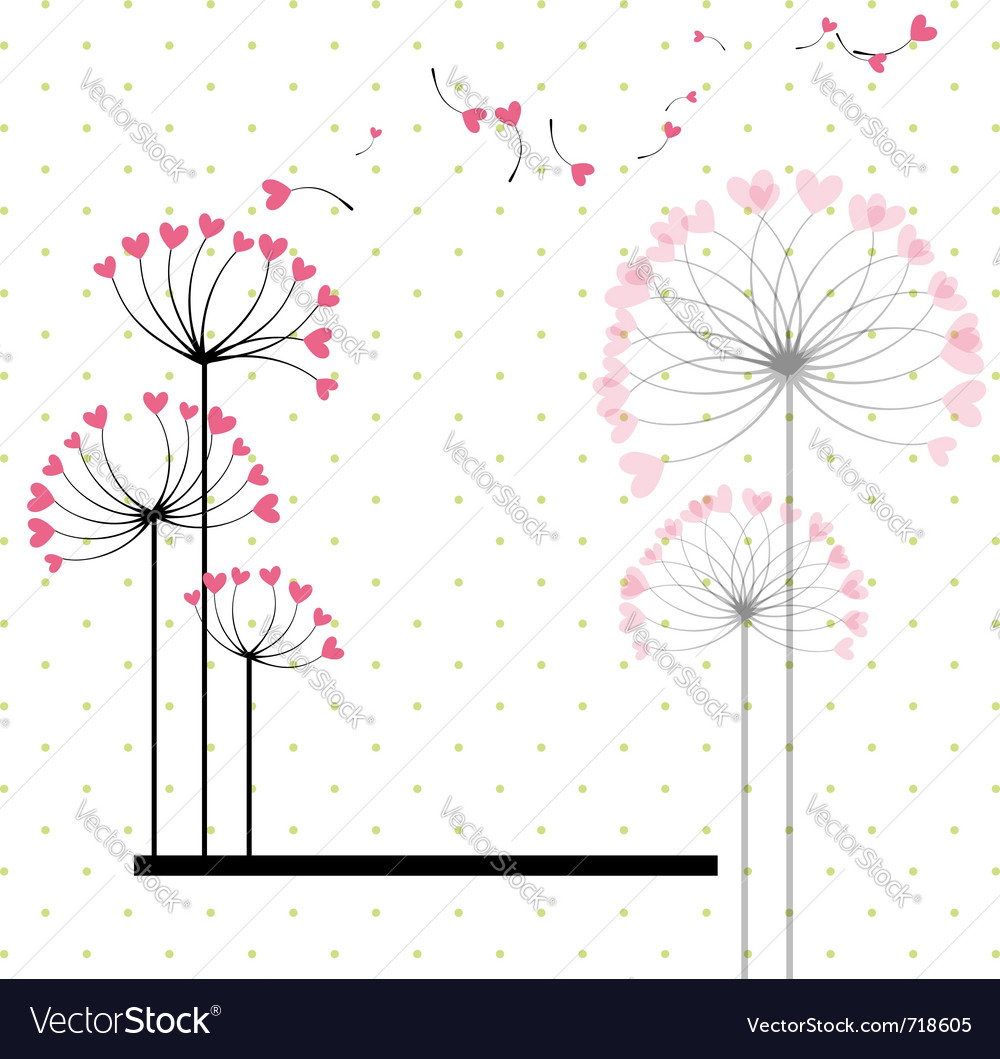 Abstract love flower vector image