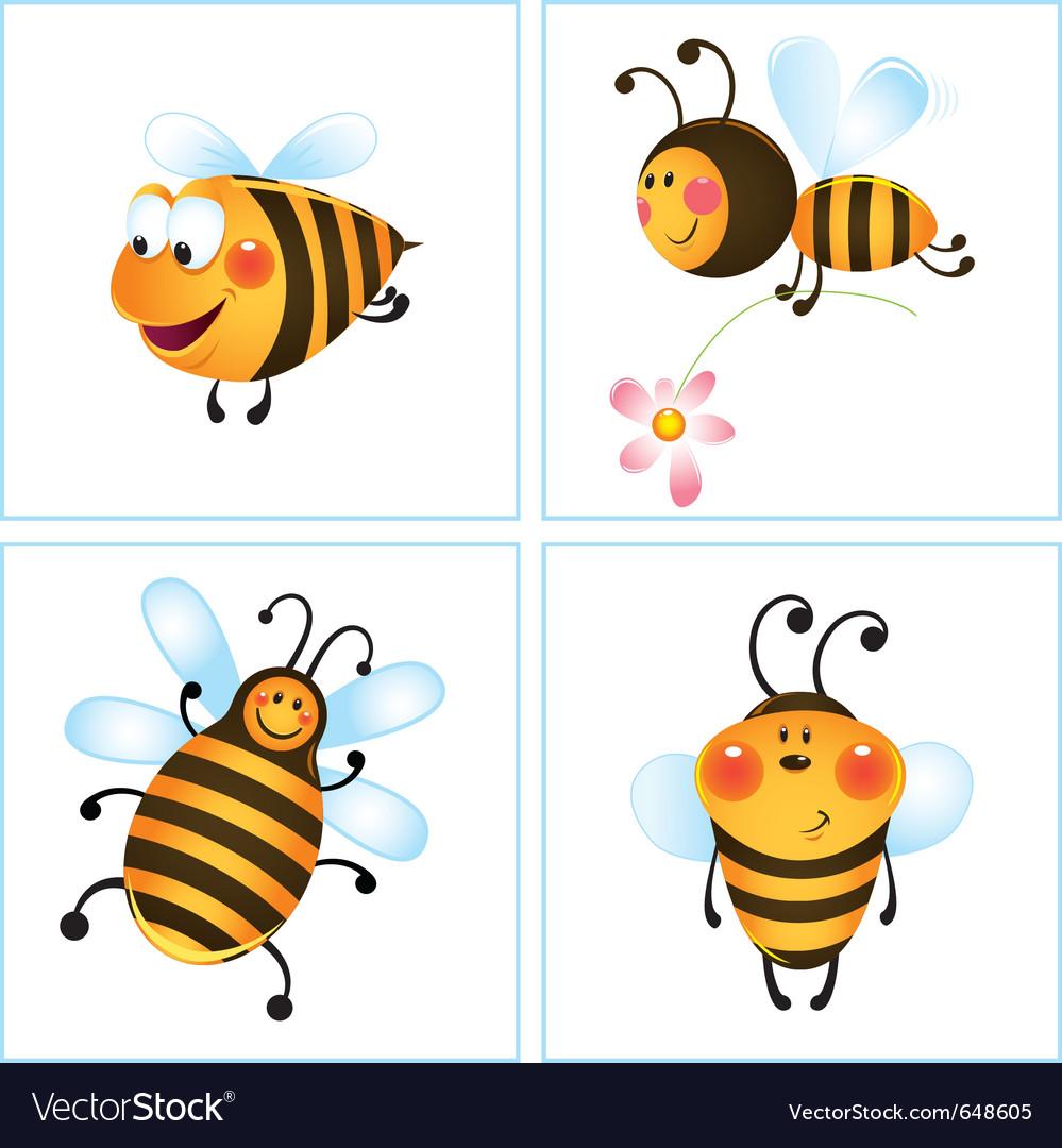 Cartoon bumble bees