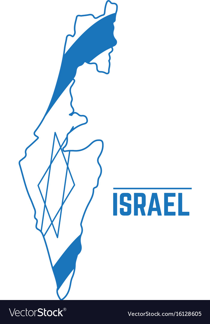 Flag and map of israel