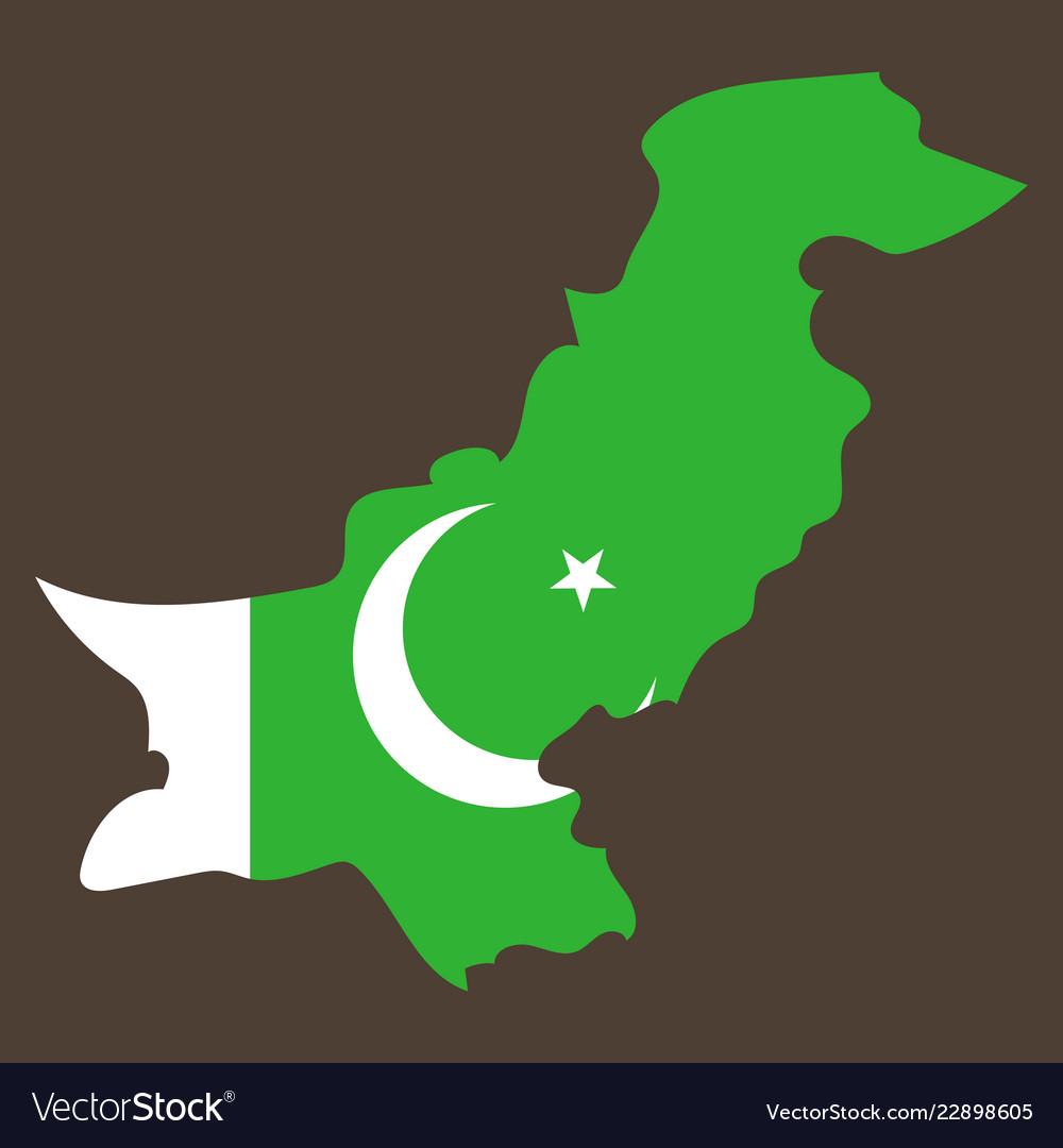 Grunge map of pakistan with pakistanian flag