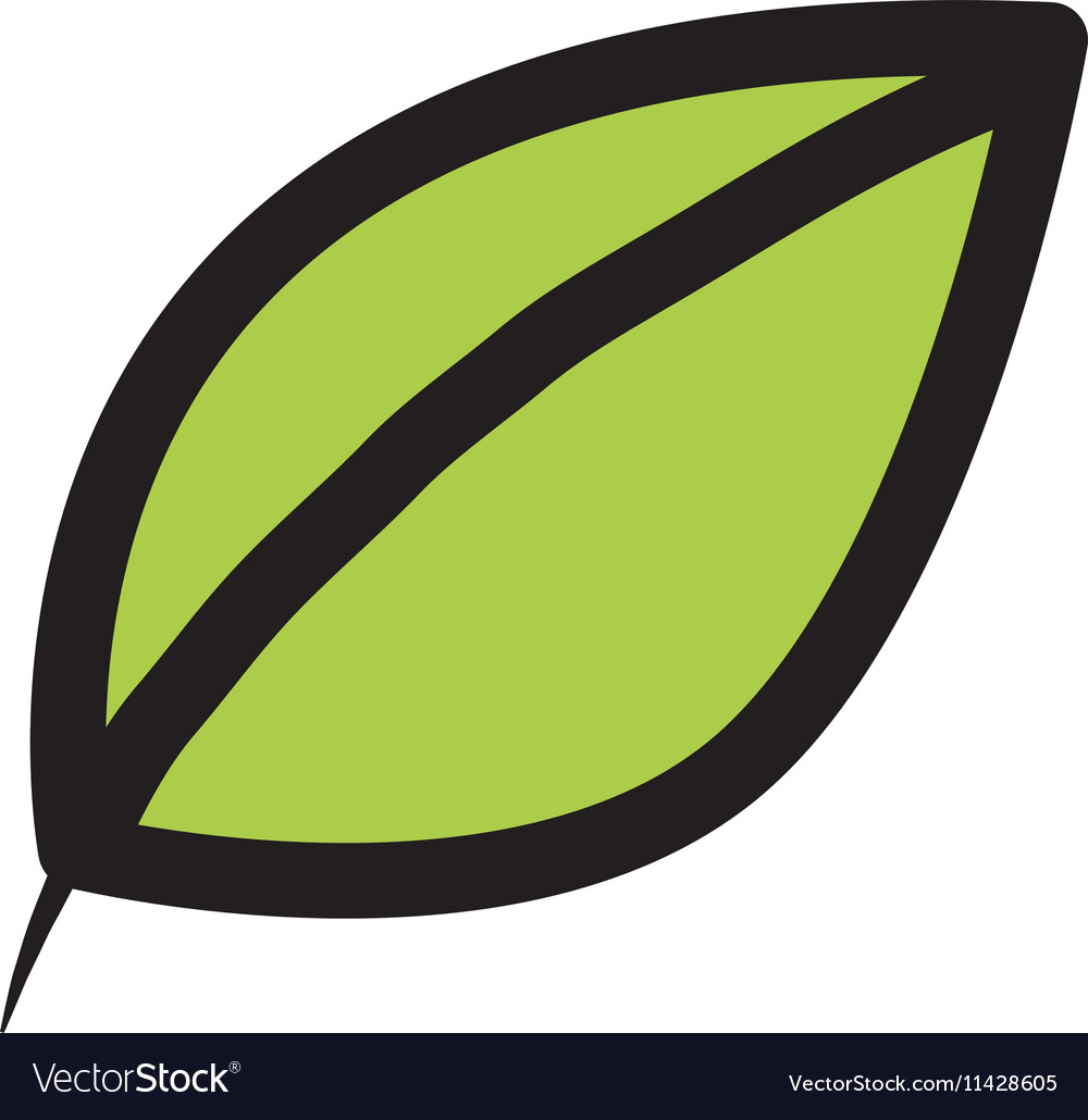 Leafs ecology symbol isolated icon
