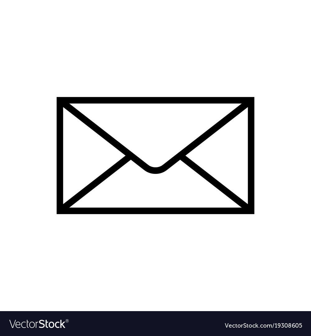 mail icon isolated isolated on white background vector image rh vectorstock com  email icon vector free download
