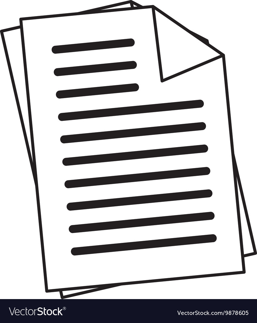 office documents sheets icon vector image
