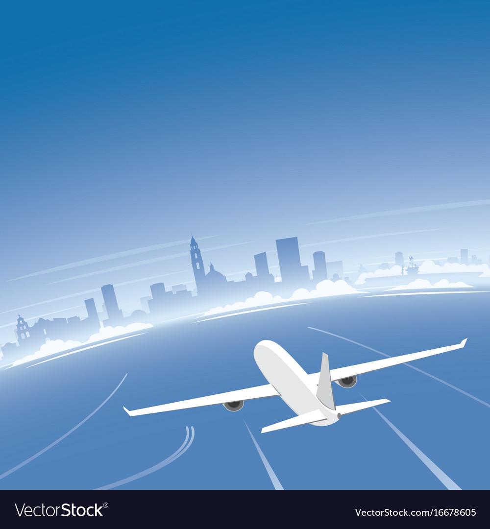 San diego skyline flight destination