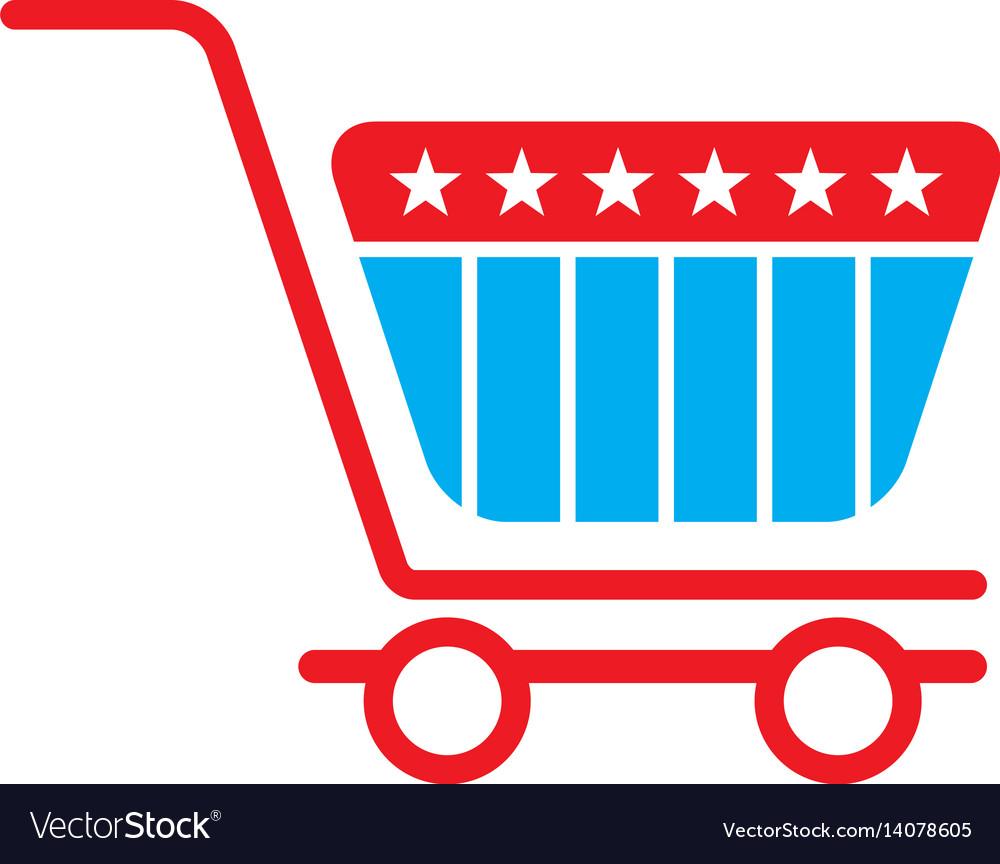 Shopping cart logo vector image