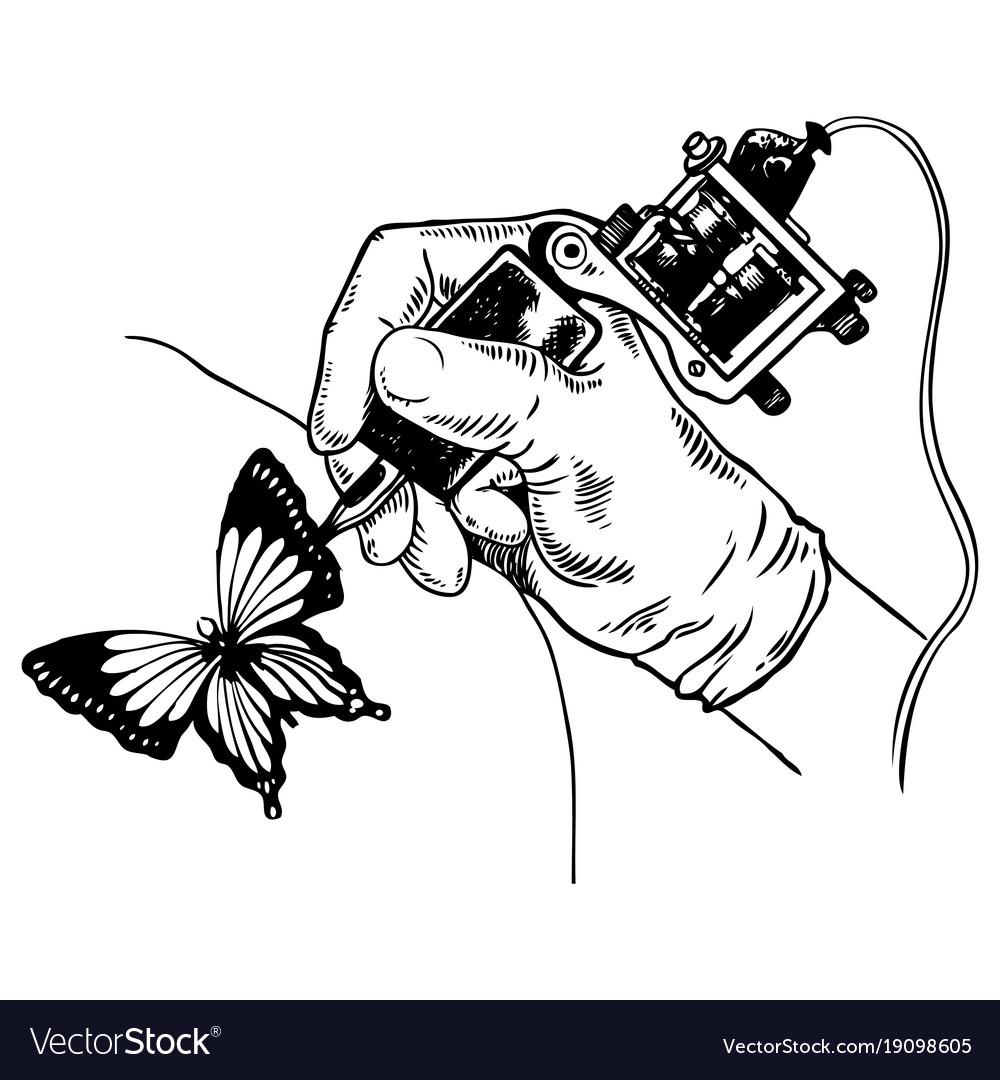 Tattoo machine engraving