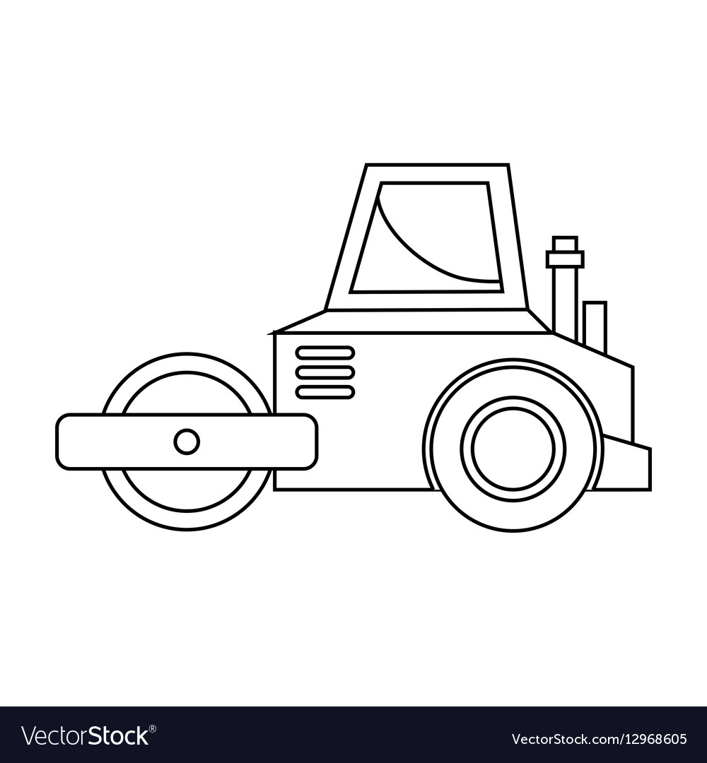Under construction planer icon vector image