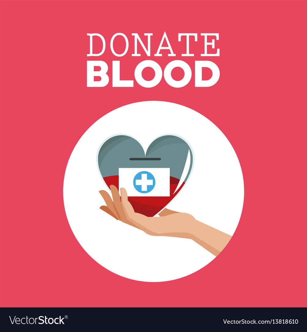 Donate blood hand holding heart care