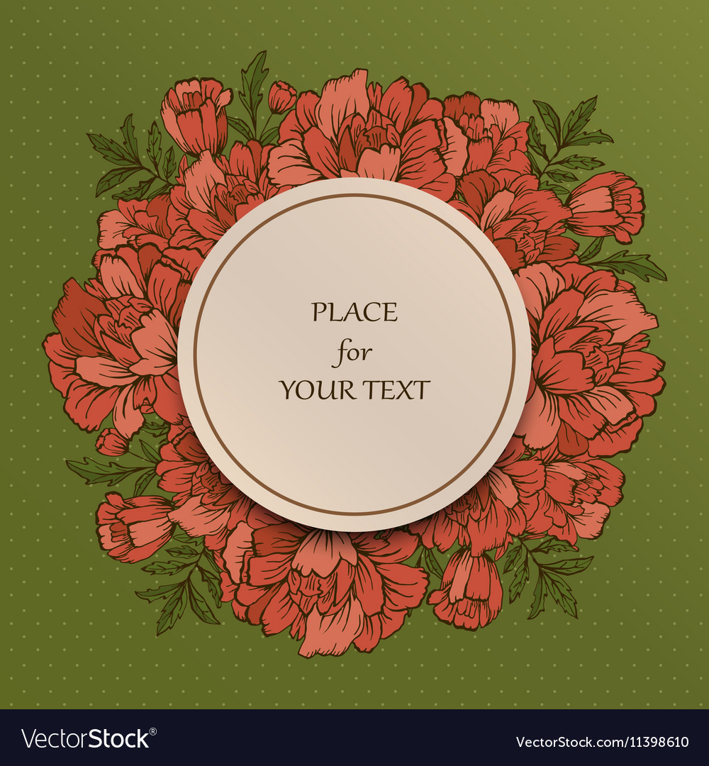 Handdrawn poster with place for your text vector image