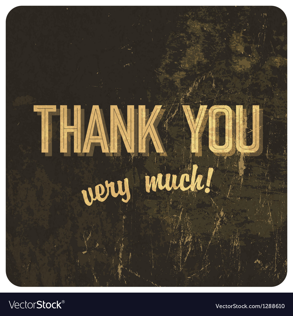 Thank you words vector image