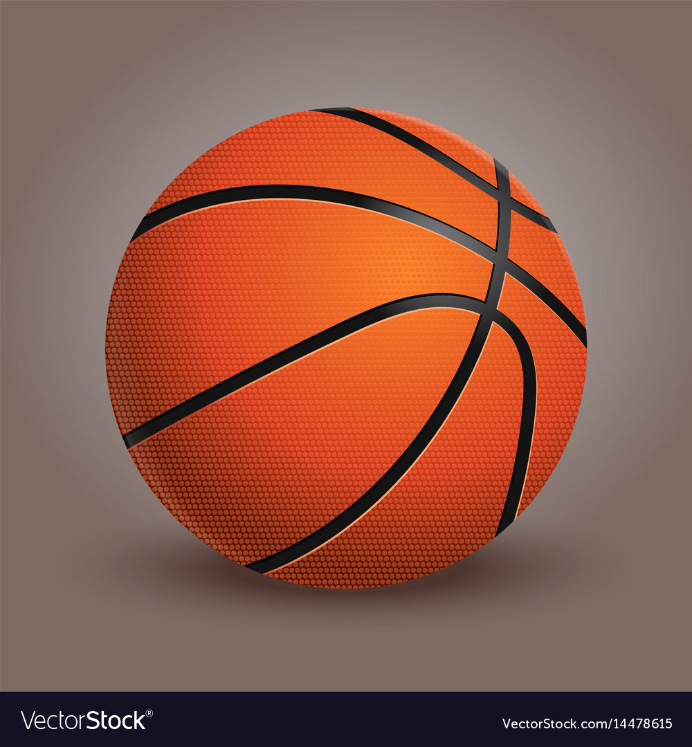 Basketball ball isolated on background realistic vector image