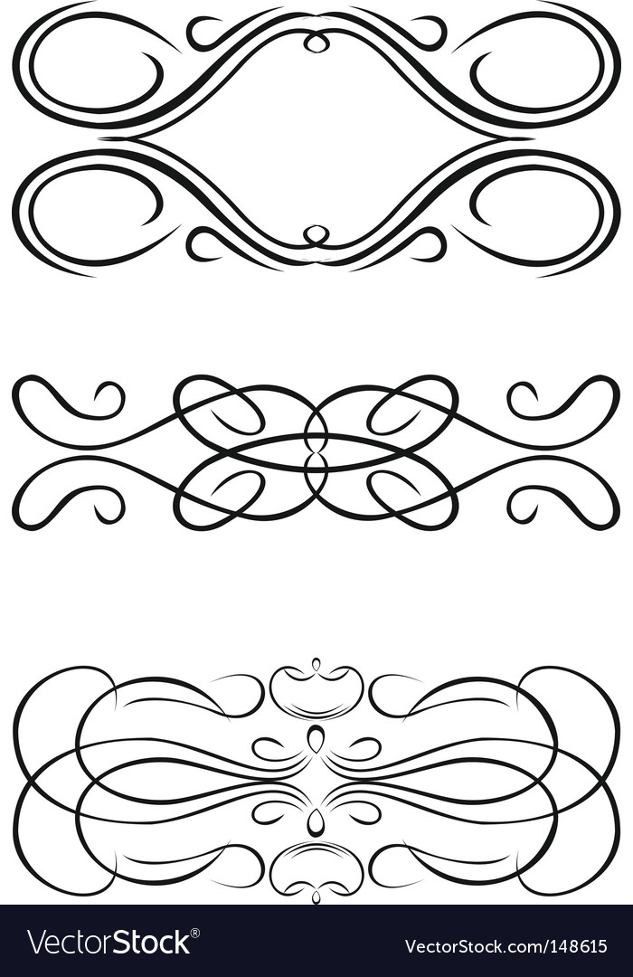Decorative Design Elements Royalty Free Vector Image Beauteous Decorative Design Elements