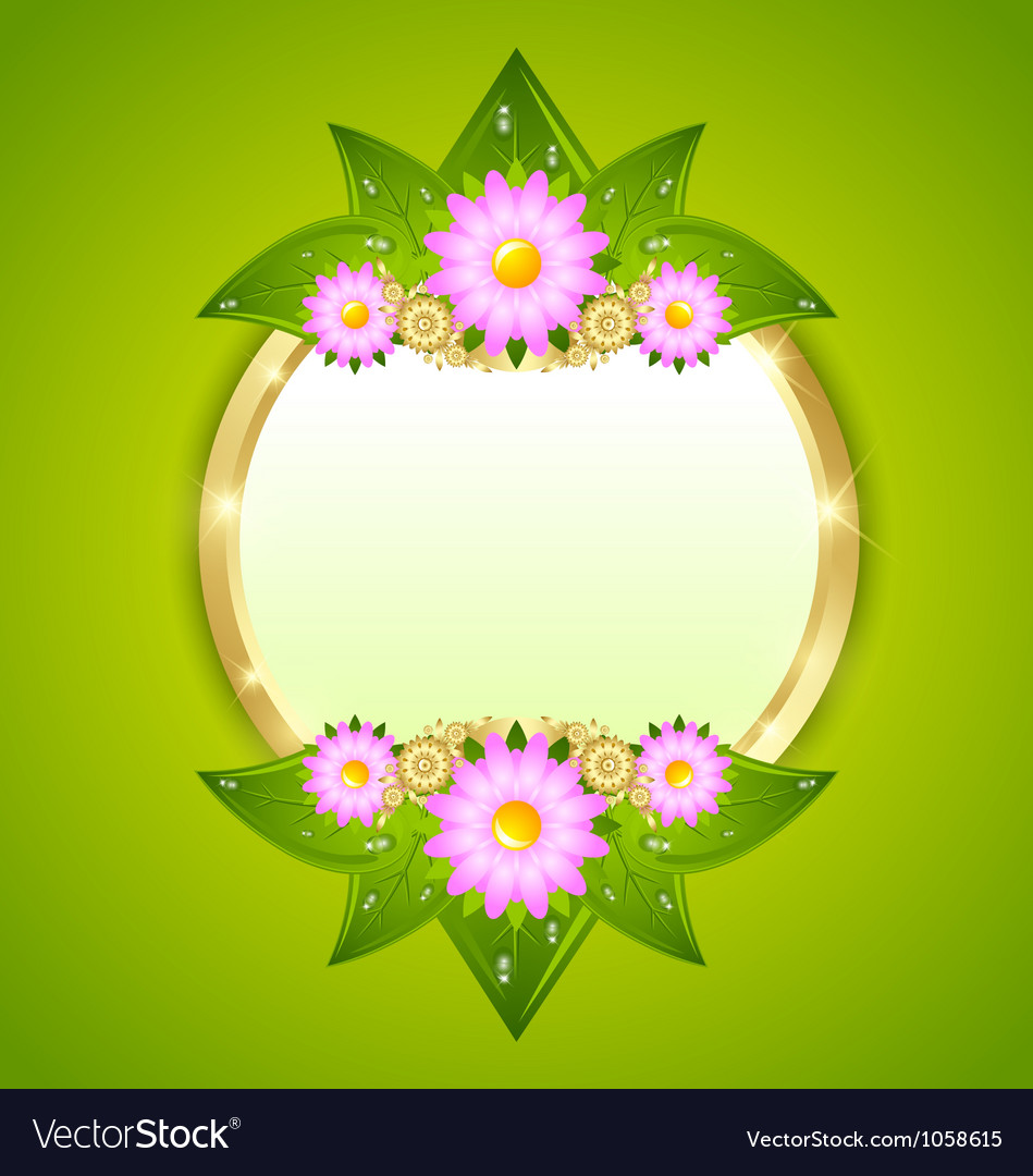 flower plaque template royalty free vector image
