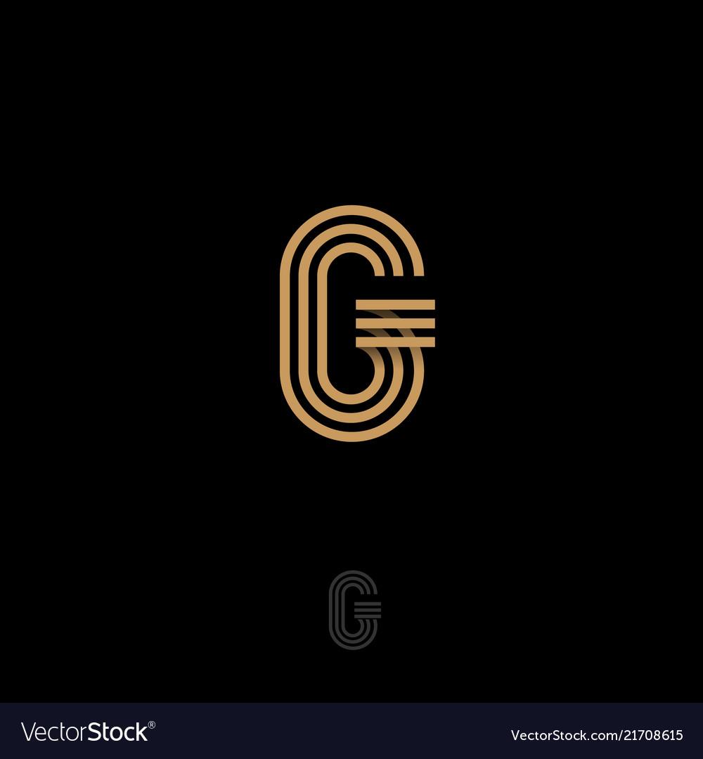 G letter monogram gold lines