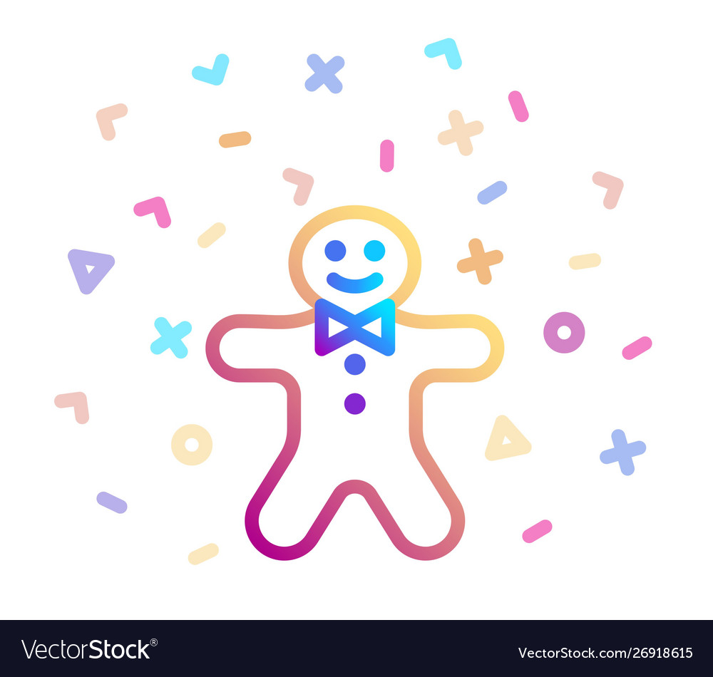 Holiday gingerbread man cookie surrounded by