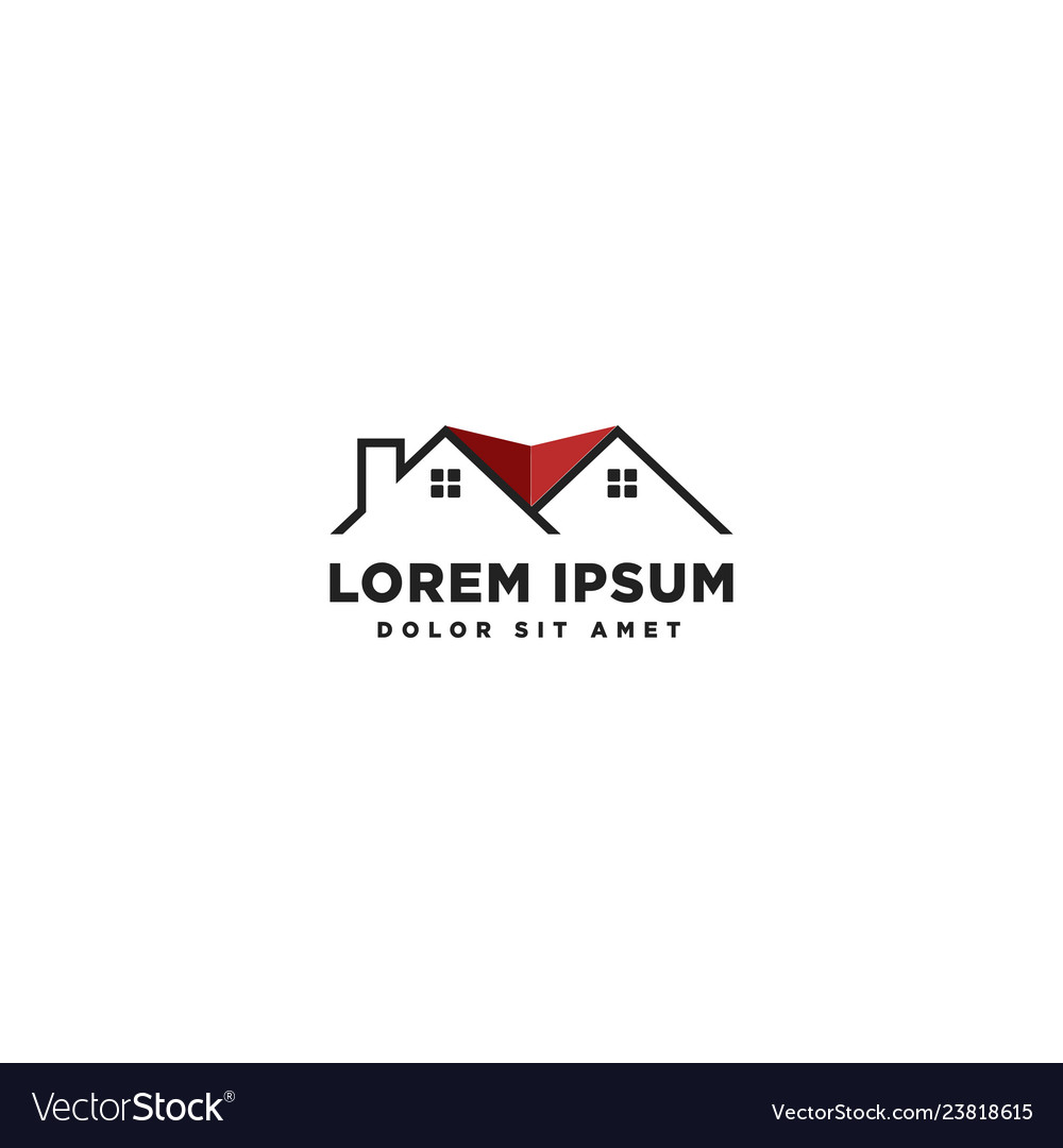 Real estate logo template icon element