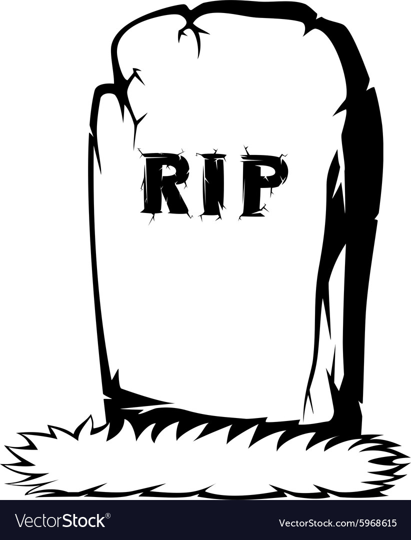 spooky tombstone royalty free vector image vectorstock rh vectorstock com tombstone shape vector tombstone vector images