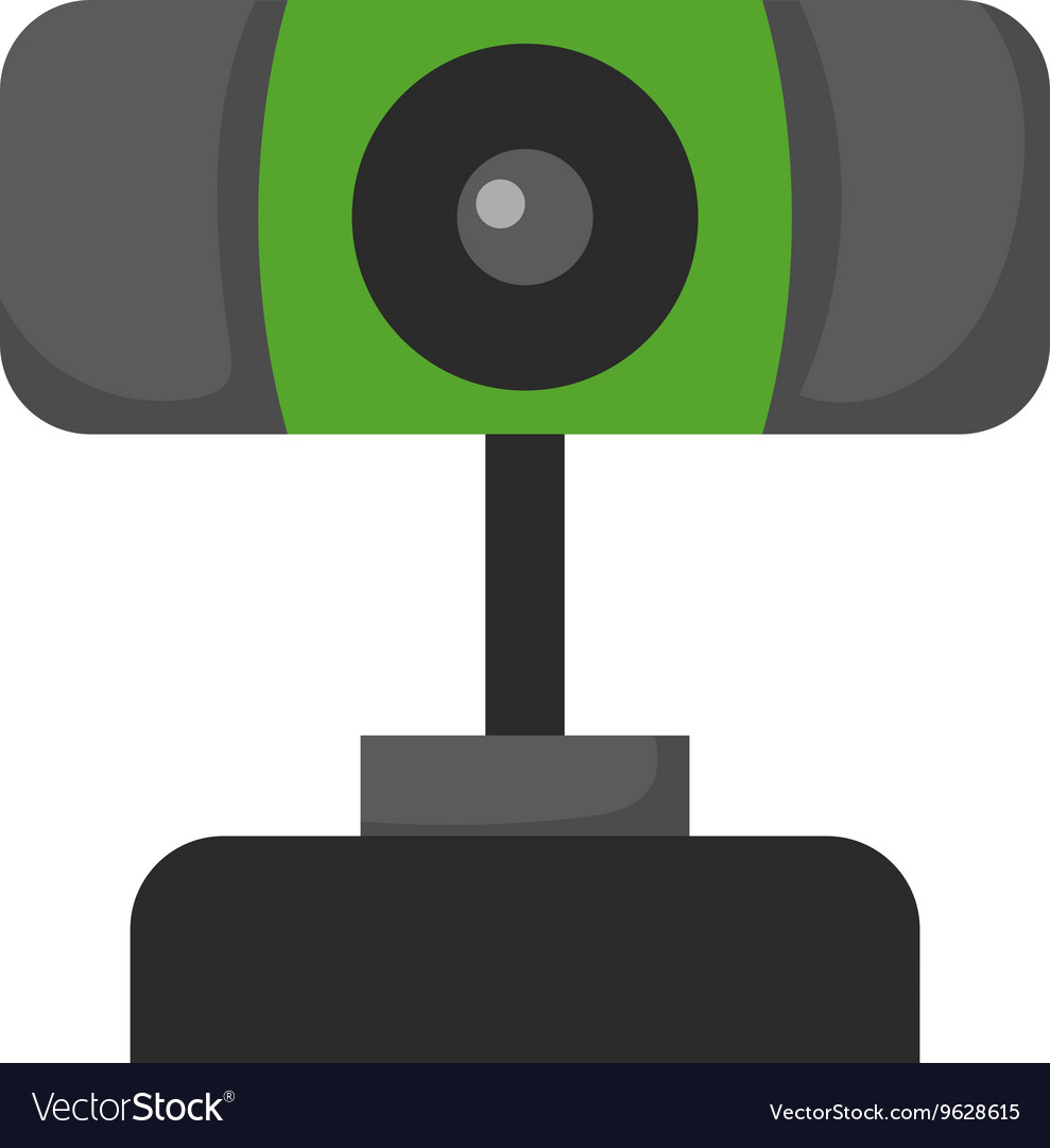 Web camera icon isolated on a white background