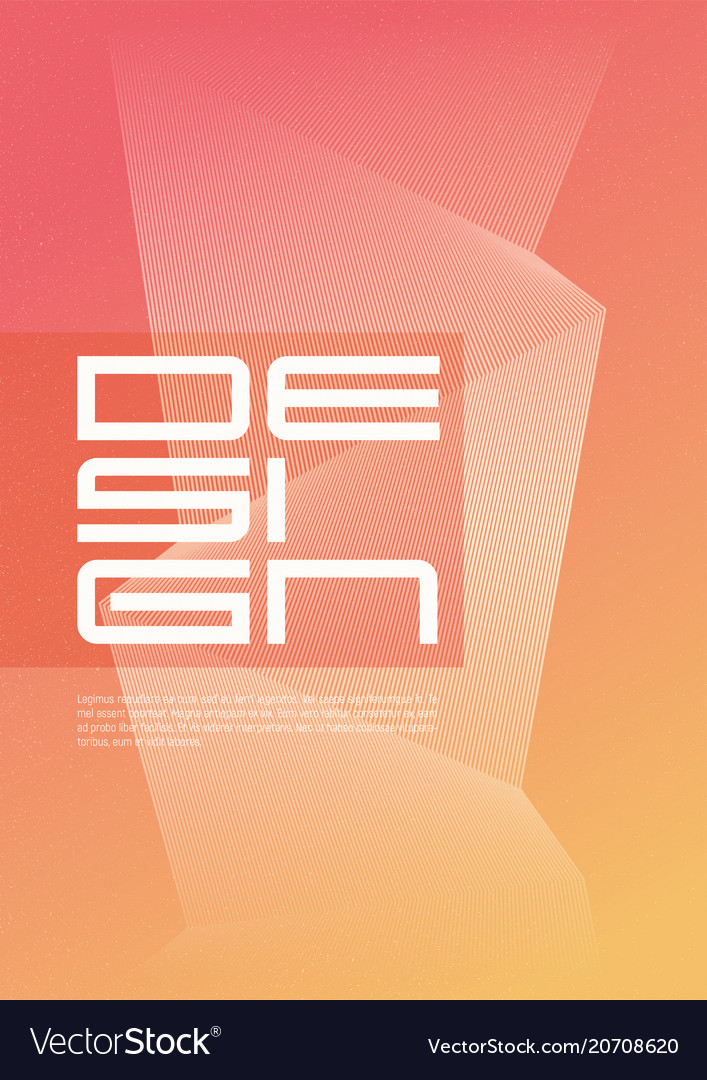 A4 size abstract geometric minimalist cover design
