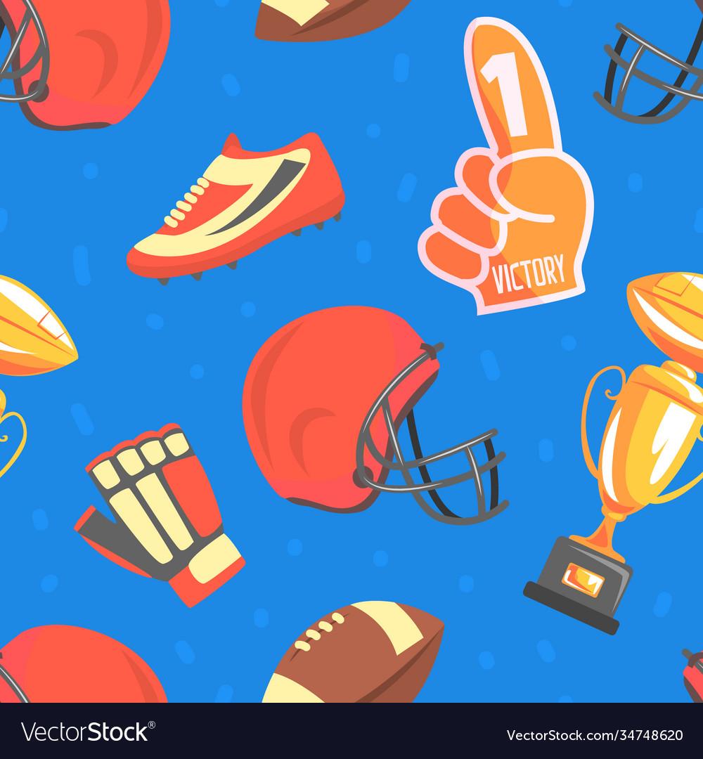 American football seamless pattern sport game
