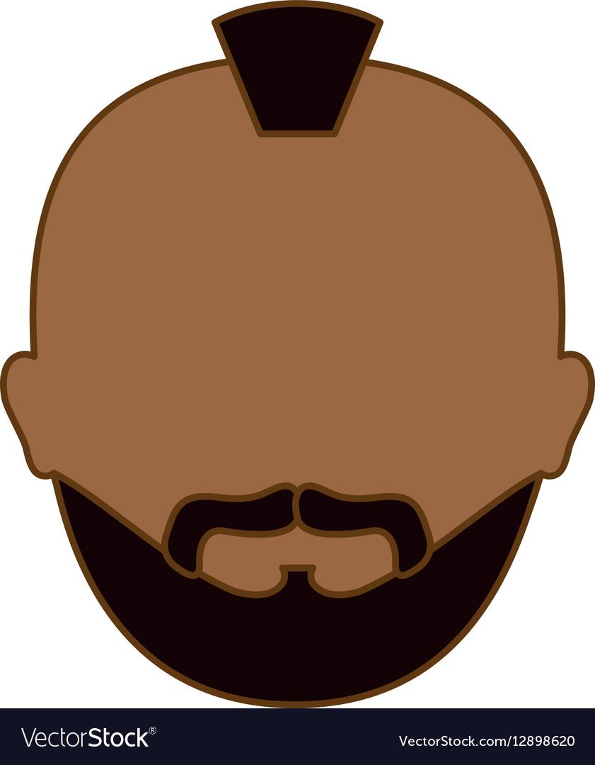Color Criminal Man Face Icon Royalty Free Vector Image