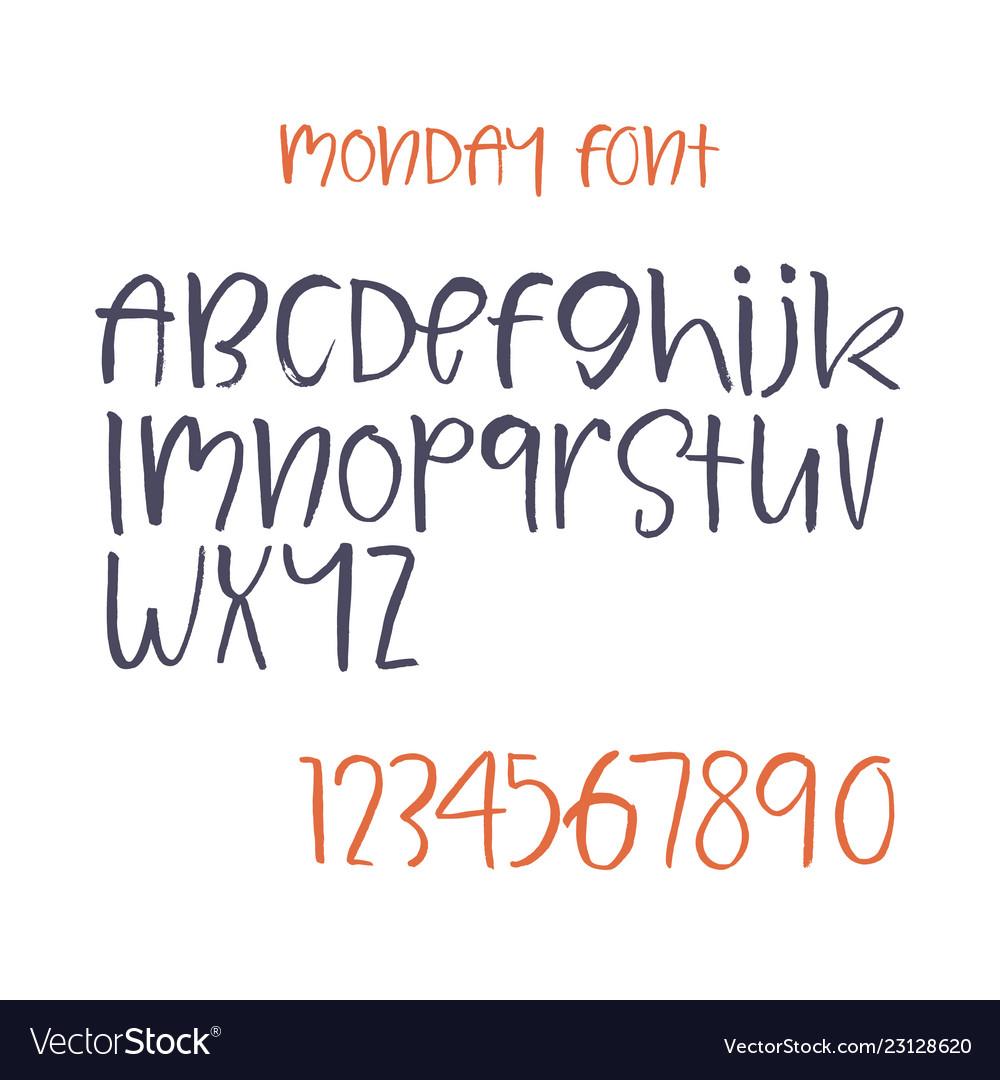 Handwritten script font brush font